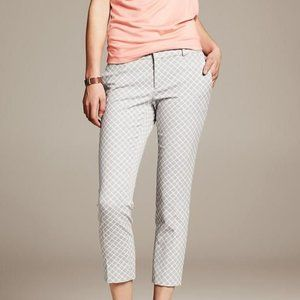 Grey and White Banana Republic Hampton Pant